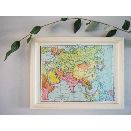 Ancienne carte d'Asie années 1950
