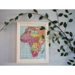 Ancienne carte d'Afrique années 1950