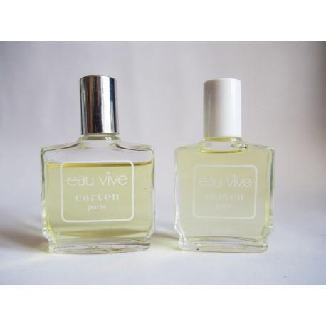 Lot de 2 miniatures de parfum Eau vive de Carven