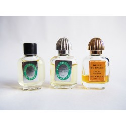 Lot de 3 miniatures de parfum De Rauch
