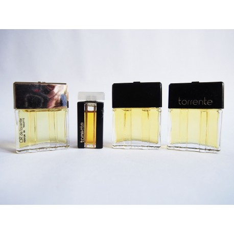 Lot de 4 miniatures de parfum Torrente