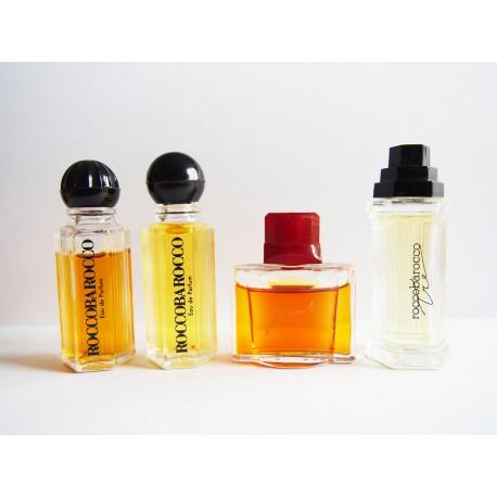 Lot de 4 miniatures de parfum Roccobarocco