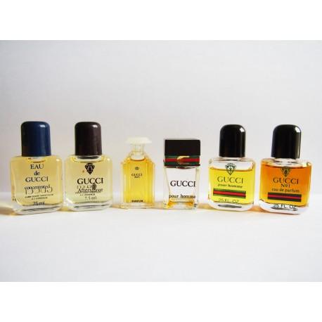 Lot de 6 miniatures de parfum Gucci