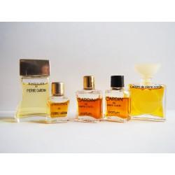 Lot de 5 miniatures de parfum Pierre Cardin