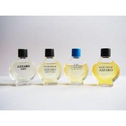 Lot de 4 miniatures de parfum Azzaro