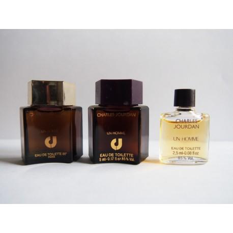 Lot de 3 miniatures de parfum Un Homme de Charles Jourdan