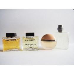 Lot de 4 miniatures de parfum Cerruti