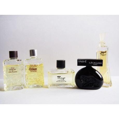 Lot de 5 miniatures de parfum Léonard