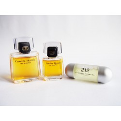 Lot de 3 miniatures de parfum Carolina Herrera