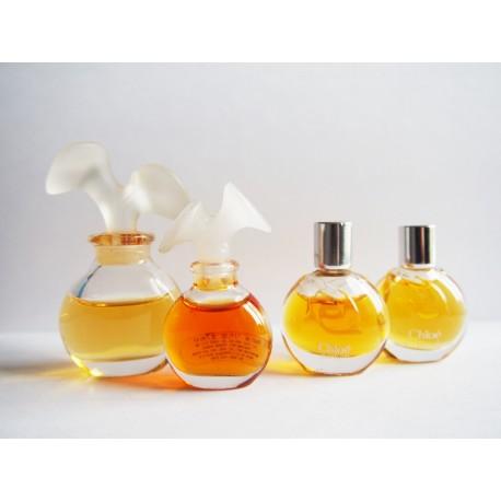 Lot de 4 miniatures de parfum Chloé de Karl Largerfeld