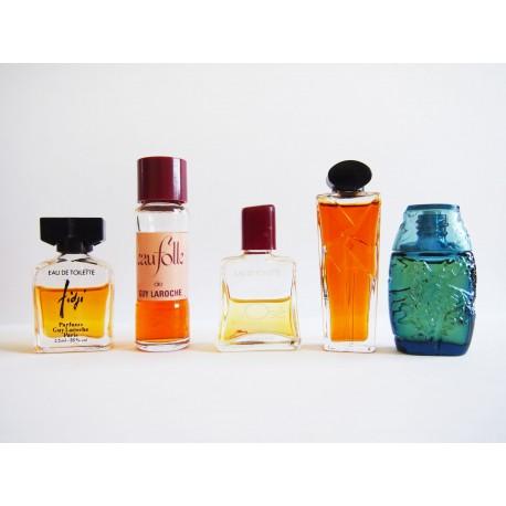 Lot de 5 miniatures de parfum Guy Laroche