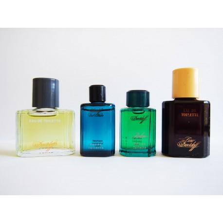 Lot de 4 miniatures de parfum Davidoff