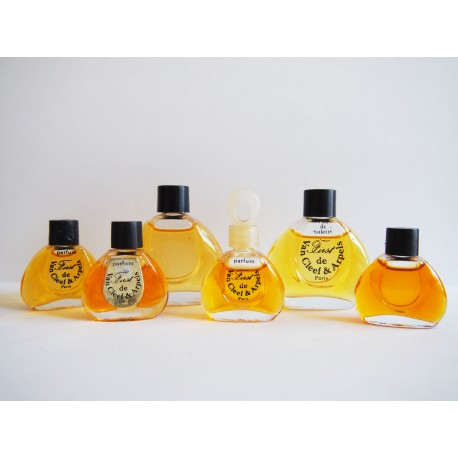 Lot de 6 miniatures de parfum First de Van Cleef & Arpels