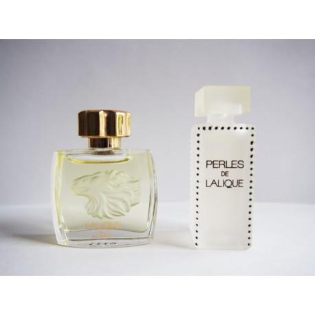 Lot de 2 miniatures de parfum Lalique