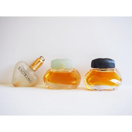 Lot de 3 miniatures de parfum Knowing de Estée Lauder