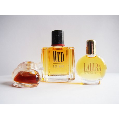 Lot de 3 miniatures de parfum Beverly Hills