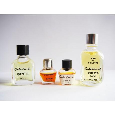 Lot de 4 miniatures de parfum Cabochard de Grès