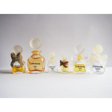 Lot de 6 miniatures de parfum Cabochard de Grès