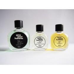 Lot de 3 miniatures de parfum Grès pour homme