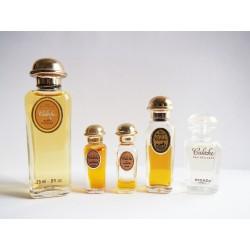 Lot de 5 miniatures de parfum Calèche de Hermès