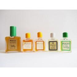 Lot de 5 miniatures de parfum Pucci