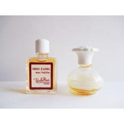 Lot de 2 miniatures de parfum Miss Zadig de Pucci