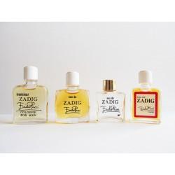 Lot de 4 miniatures de parfum Zadig de Pucci