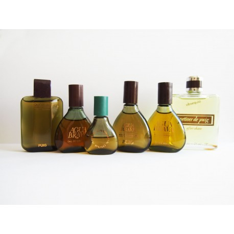 Lot de 6 miniatures de parfum Antonio Puig