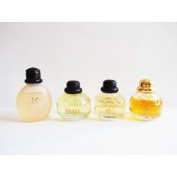 Lot de 4 miniatures de parfum Paris de Yves Saint Laurent