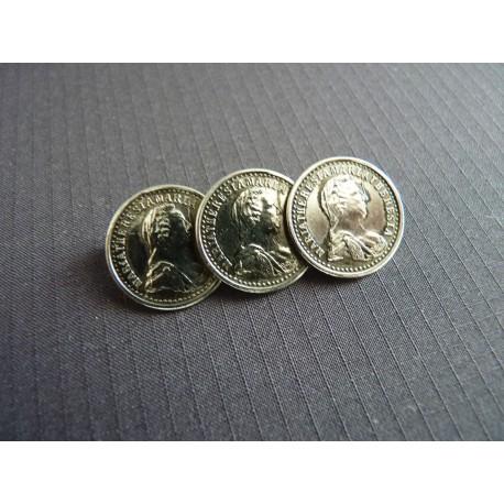 Broche vintage composé de 3 pièces de monnaie