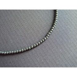 Bracelet de petites perles rondes en onyx