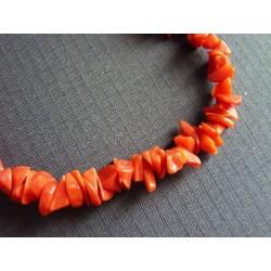 Bracelet en fragments de corail rouge