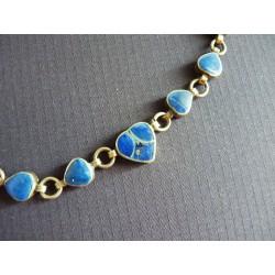 Bracelet en lapis lazuli cerclé de métal