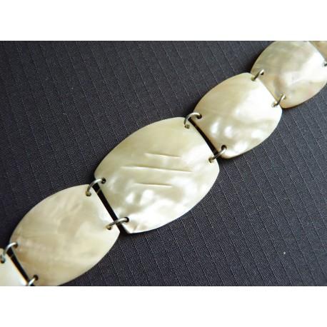 Bracelet en plaques de nacre