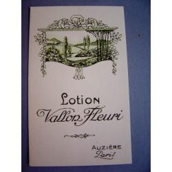 Ancienne carte parfumée Vallon Fleuri de Auzière