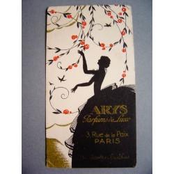 Ancienne carte parfumée Un jardin la nuit de Arys