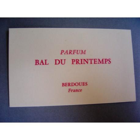 Ancienne carte parfumée Bal du Printemps de Berdoues