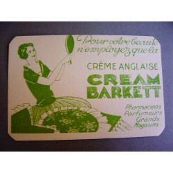 Ancienne carte parfumée Cream Barkett