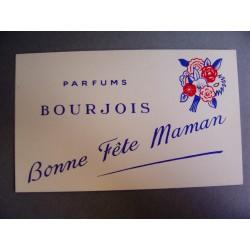 Ancienne carte parfumée Bonne fête Maman de Bourjois