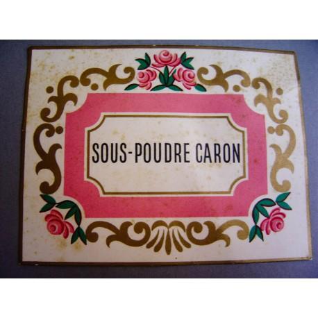 Ancienne carte parfumée Sous-poudre Caron
