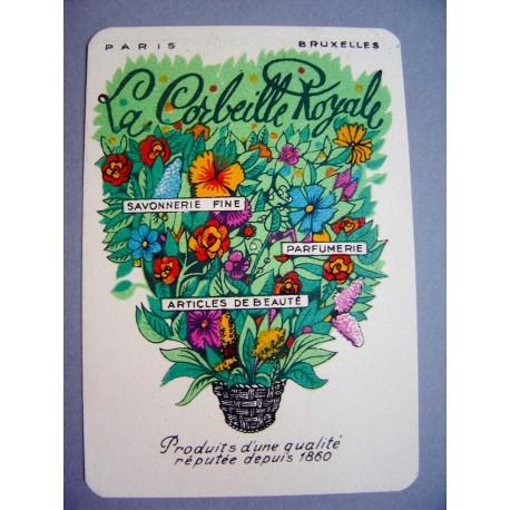 Ancienne carte parfumée La Corbeille Royale