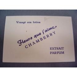 Ancienne carte parfumée Fleurs que j'aime Chambery