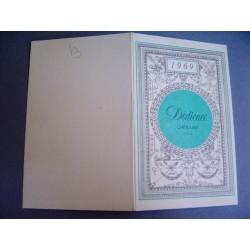 Ancien calendrier parfumé 1969 Dédicace de Cheramy