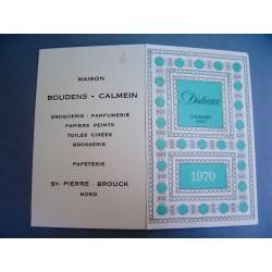 Ancien calendrier parfumé 1970 Dédicace de Cheramy