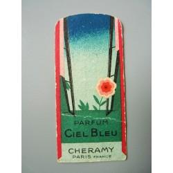 Ancienne carte parfumée Ciel Bleu de Cheramy