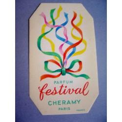 Ancienne carte parfumée Festival de Cheramy