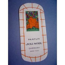 Ancienne carte parfumée Joli Soir de Cheramy