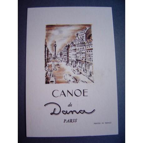 Ancienne carte parfumée Canoe de Dana