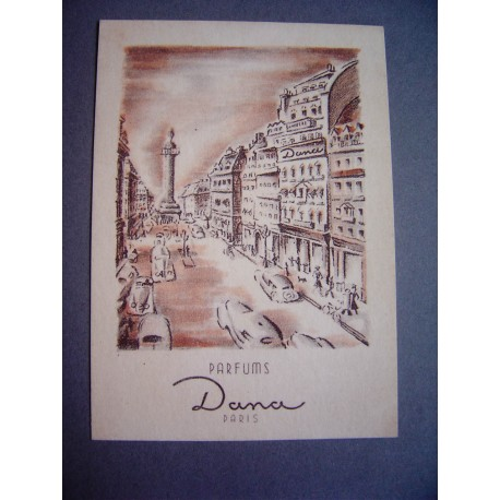 Ancienne carte parfumée Dana