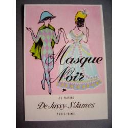 Ancienne carte parfumée Masque Noir de Jussy - St James